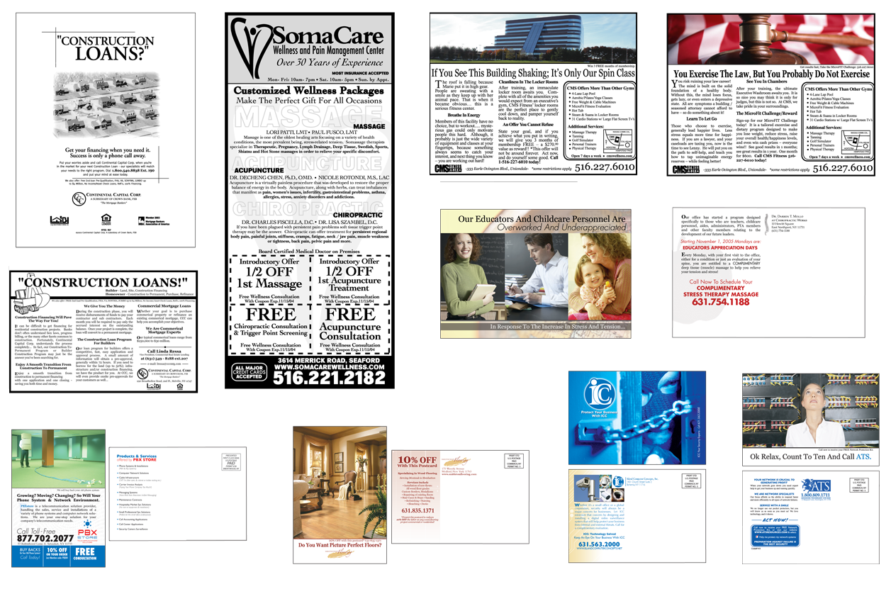Various Printed Advertisement and Postcard Mailers