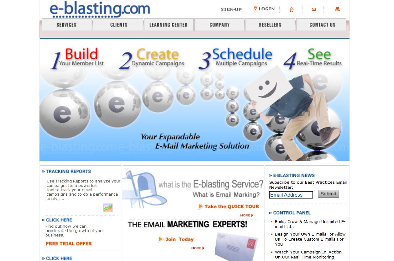 E-blasting.com Website